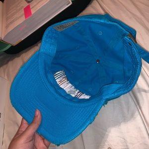 KBethos Vintage Accessories - Blue Embroidered Hat
